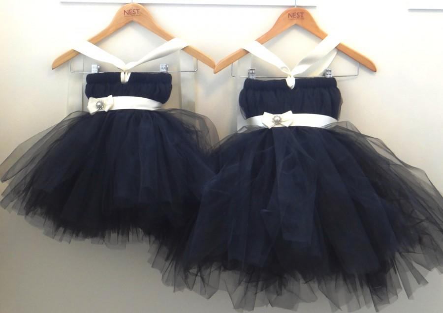 Свадьба - Black Flower Girl Dress.... Birthday Tutu Dress.... Tutu Dress