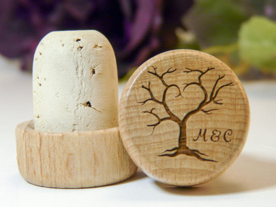 Personalized Tree Of Life Wedding Favor Wine Stopper Laser Engraved Bottle Topper Customized With Your Names Initials Short Phrase Fast
