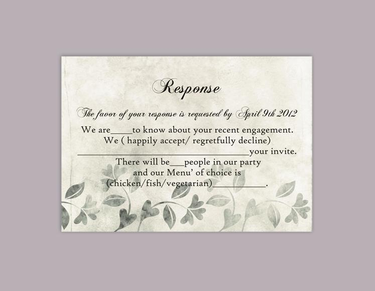 Wedding Rsvp Template.Diy Rustic Wedding Rsvp Template Editable Word File Instant Download