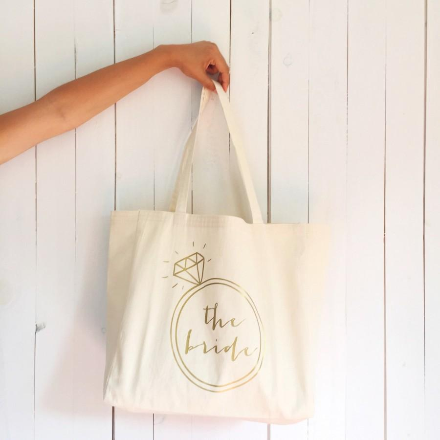Bachelorette Bag, The Bride Tote Bag, Bachelorette Tote, Bridal Tote ...