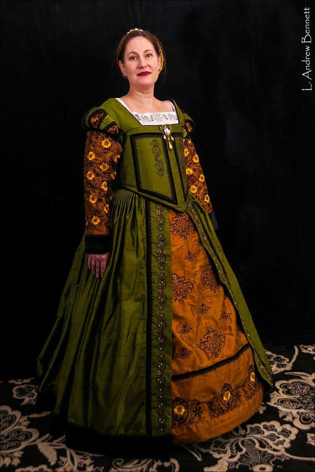 Renaissance Dress Elizabethan Tudor Costume Wedding Gown Made To Order Lay Away Available