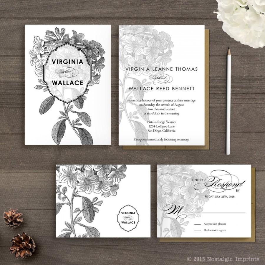 Floral Wedding Invitations / Wedding Guest Invitations / Wedding ...