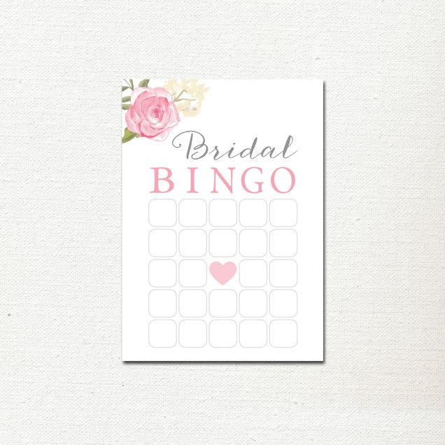 Свадьба - Bridal Bingo Card - Instant Download