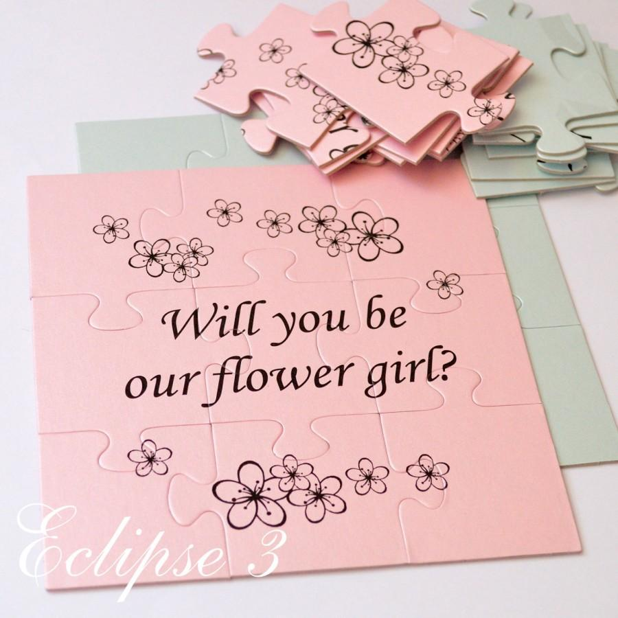 Свадьба - Will You Be Our Flower girl, Flower girl Puzzle , Will You Be My Flower girl, Flower girl card, Flower girl proposal puzzle, Ask Flower Girl