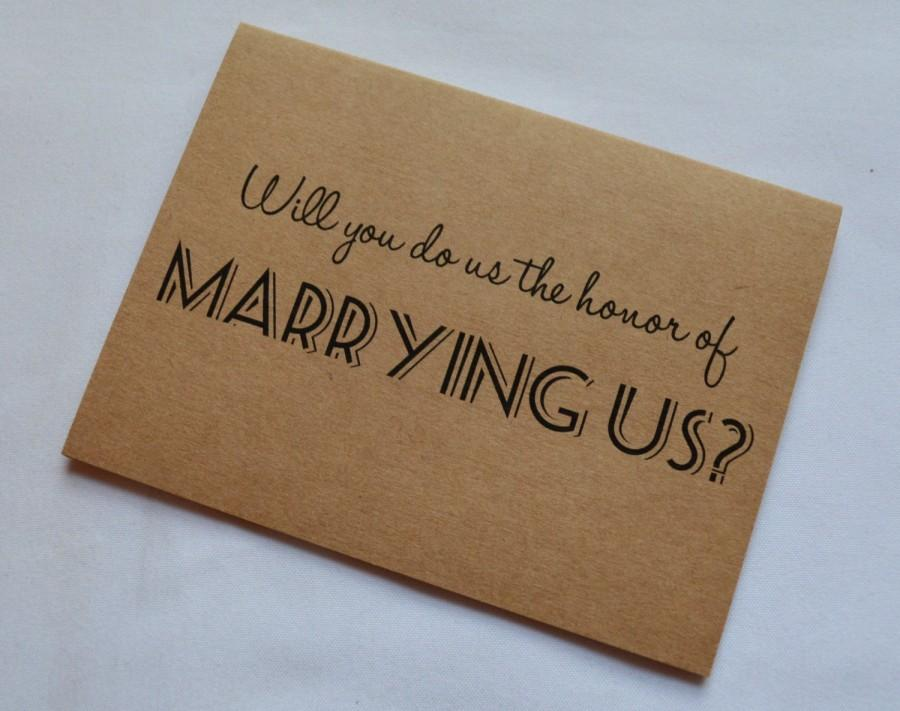 Will You Do Us The Honor Of Marrying Us Priest Deacon Card Marry Us