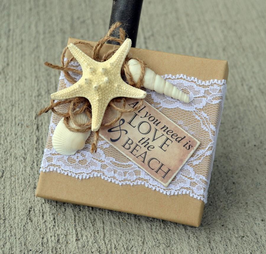 Will You Be My Bridesmaid Beach Theme Boxed Invite Starfish Box – Beach Wedding Card Boxes