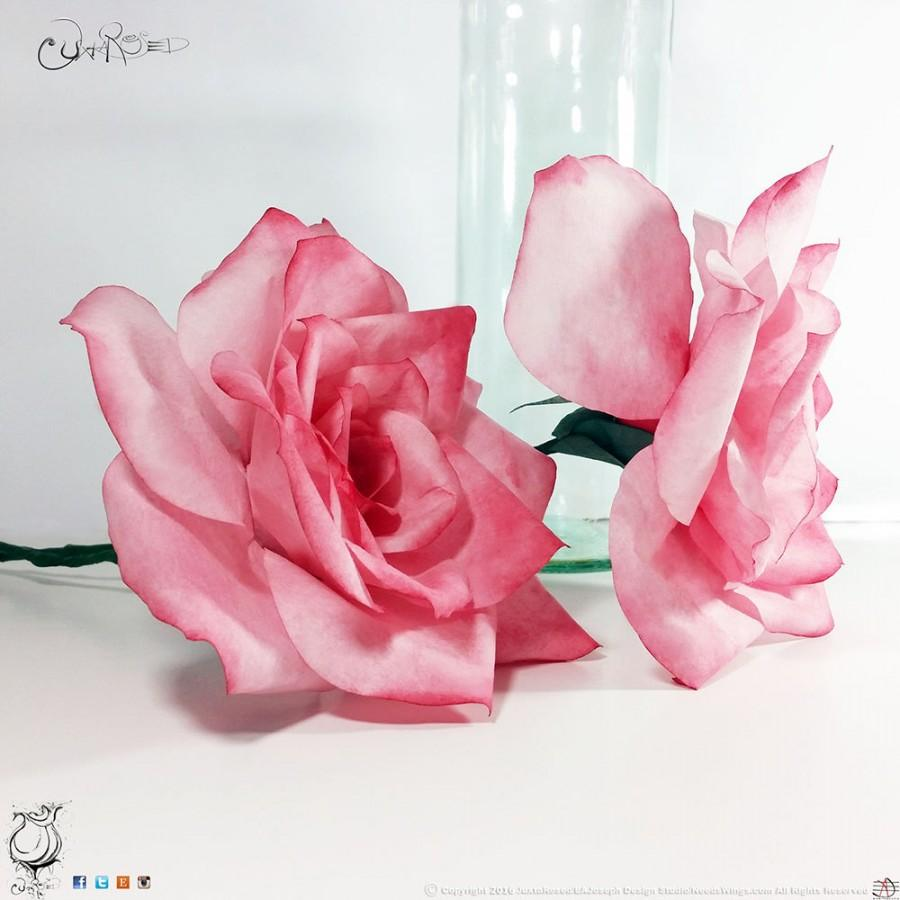 Coffee Filter Roses Long Stem Pink Paper Coffee Filter Roses Paper