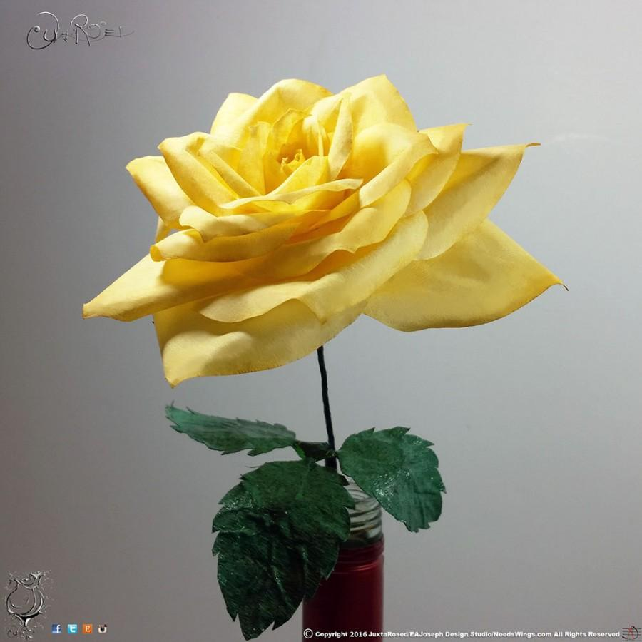 Coffee Filter Roses Long Stem Yellow Paper Coffee Filter Roses Paper