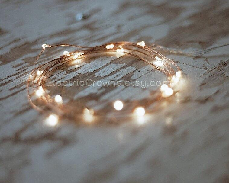 Свадьба - Fairy lights, Rustic wedding decor, Copper Wire, BATTERIES INCLUDED 6.6 ft!