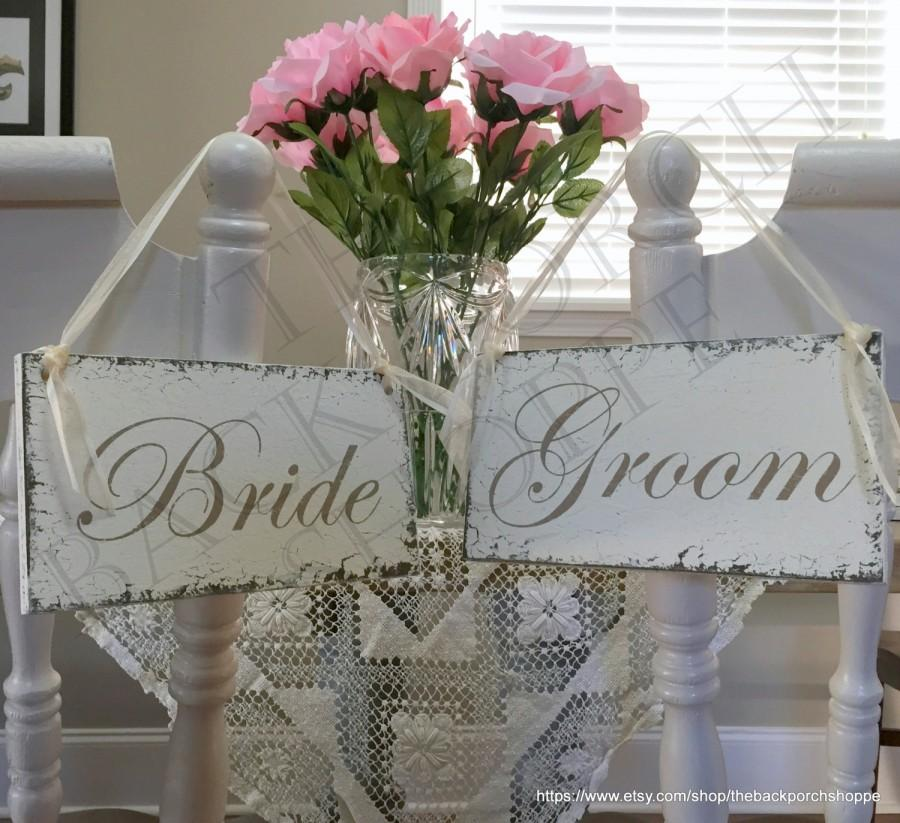 Wedding Chair Signs, Wedding Chair Hangers, Wedding Signs, Bride And ...