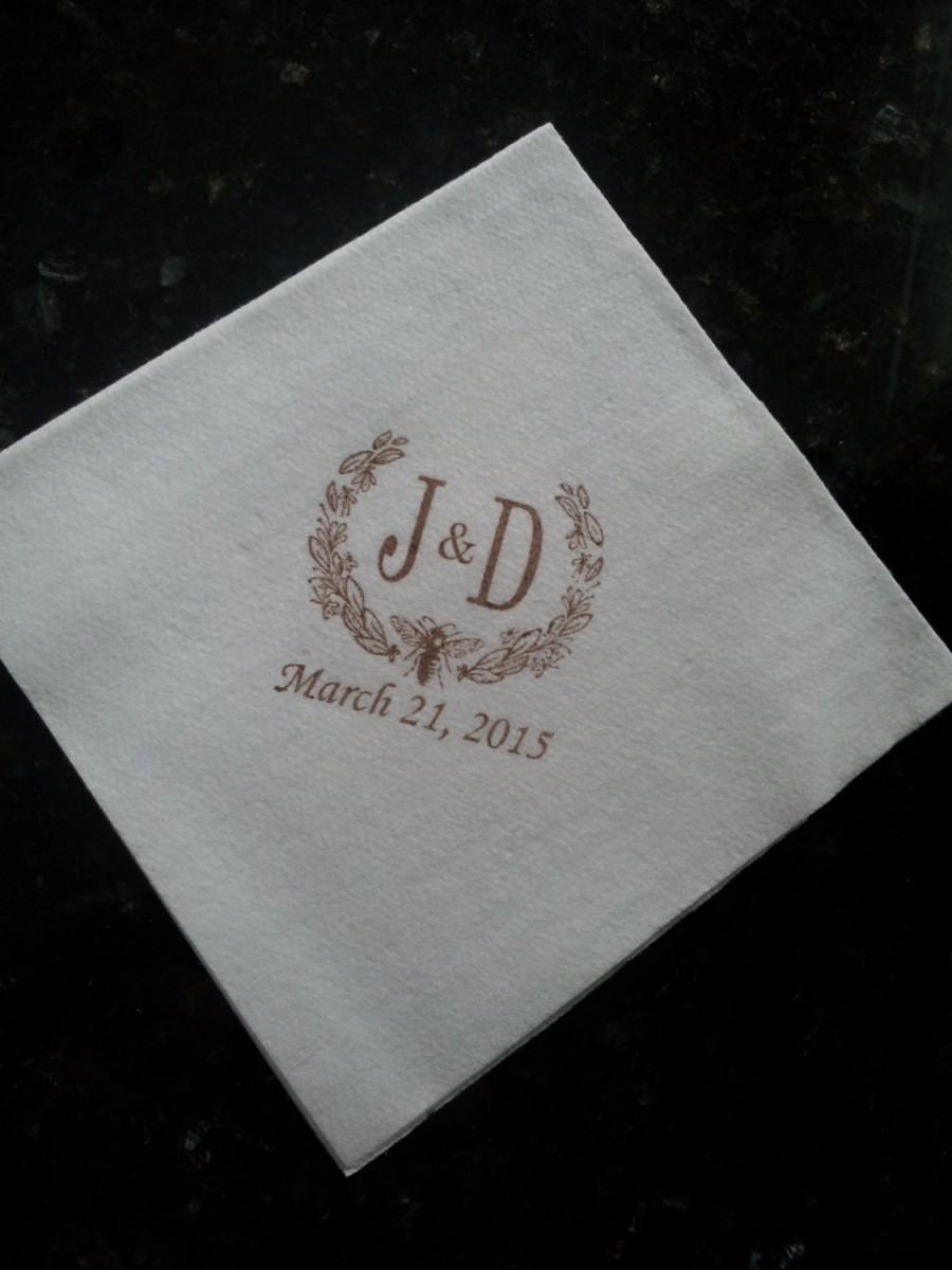 personalized napkins cocktail cake luncheon soft cloth like