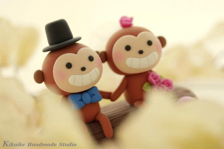 Decor - Monkey Wedding Cake Topper-----k775 #2458474 - Weddbook