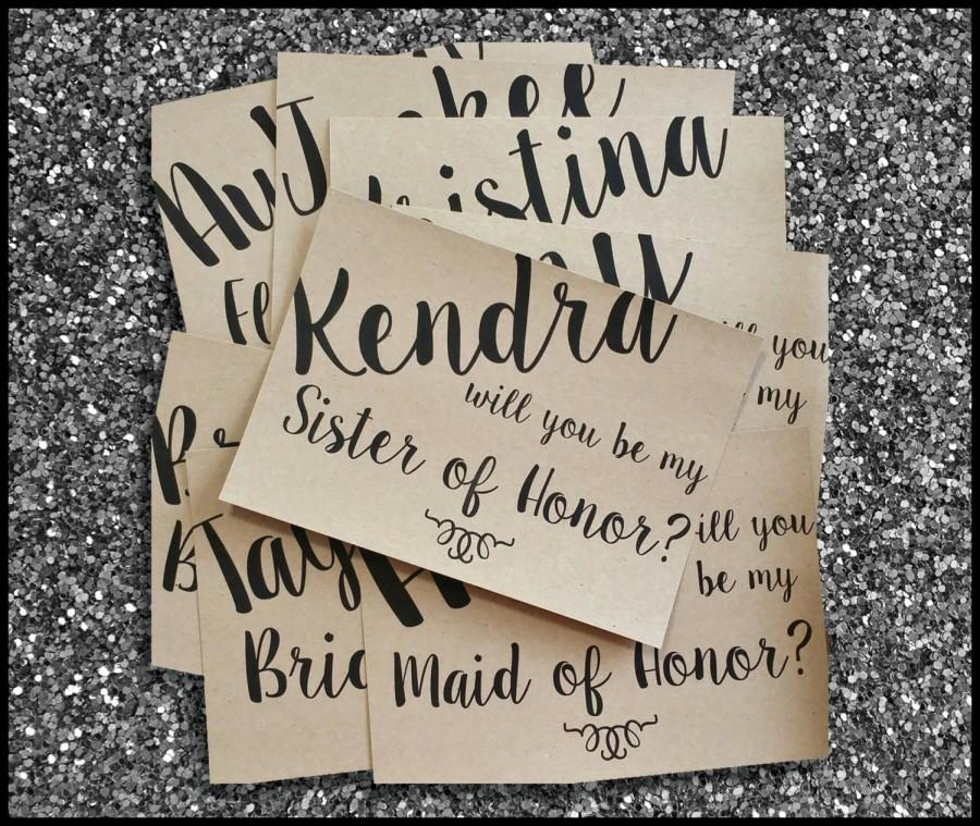 "Свадьба - PRINTED Bridal Party Proposal ""Will You Be My"" Maid of Honor Country Rustic Card"