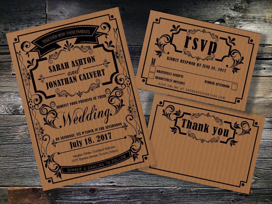 Printable Wedding Invitation,instant Download,wedding Invitation Set ...