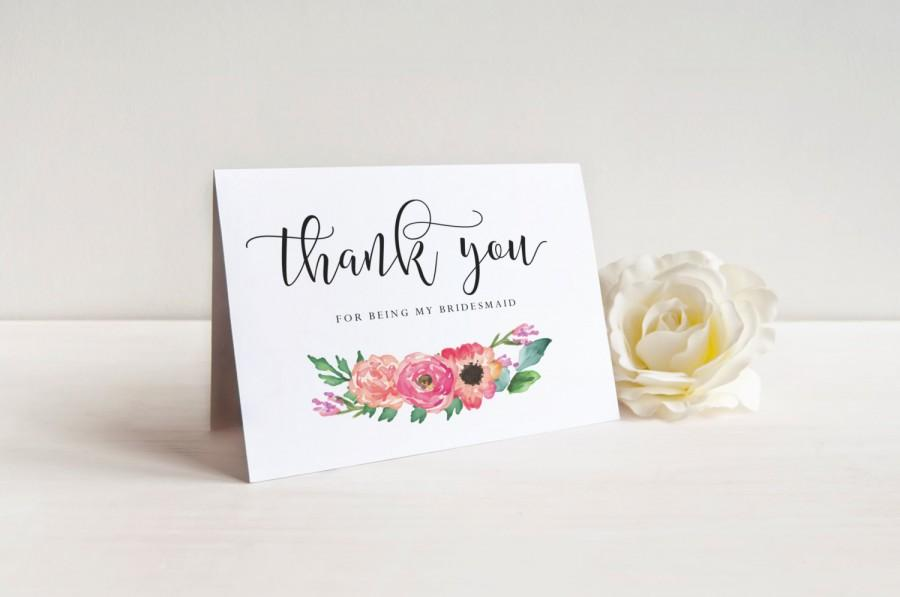 Thank You For Being My Bridesmaid Card Set Bridesmaid Gift Maid