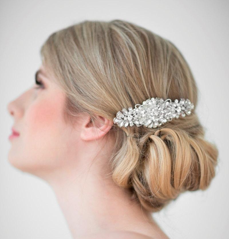 Свадьба - Wedding Hair Comb,  Bridal Head Piece, Crystal and Pearl Hair Comb, Wedding Hair Accessory