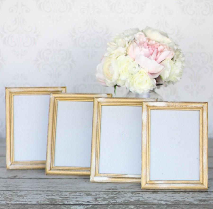 Rustic Gold Wedding Frames 5x7 Shabby Decor SET Of 4 #2458534 - Weddbook