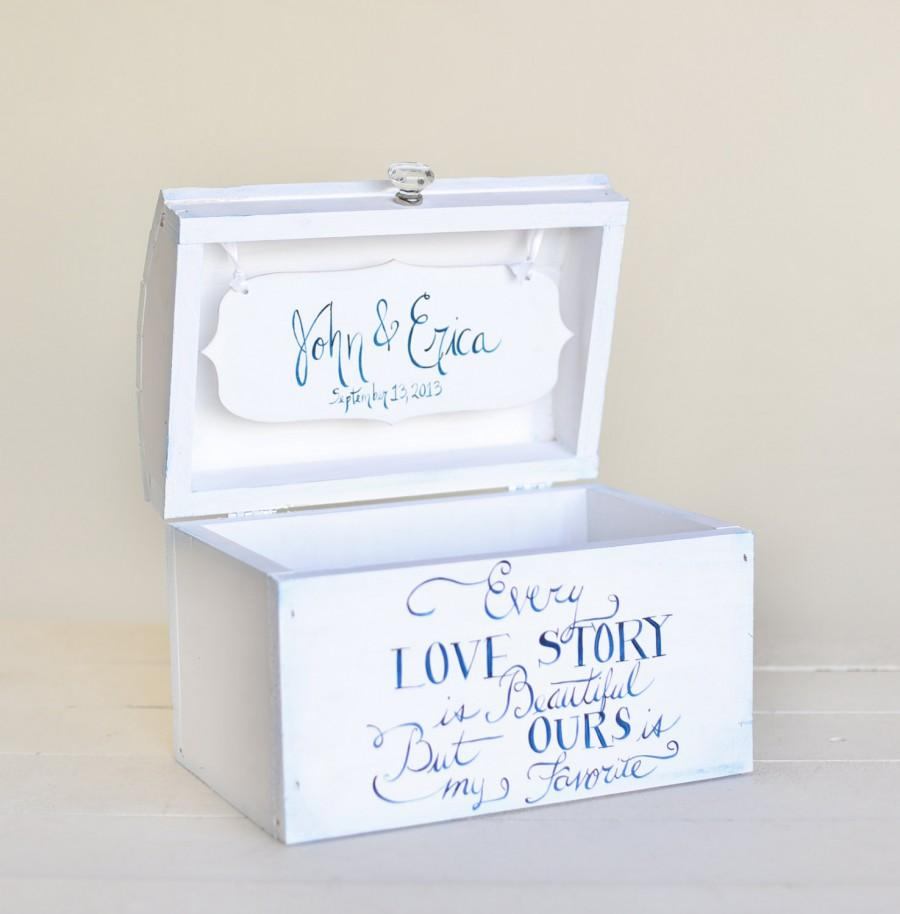 personalized wedding card box bridal shower keepsake box