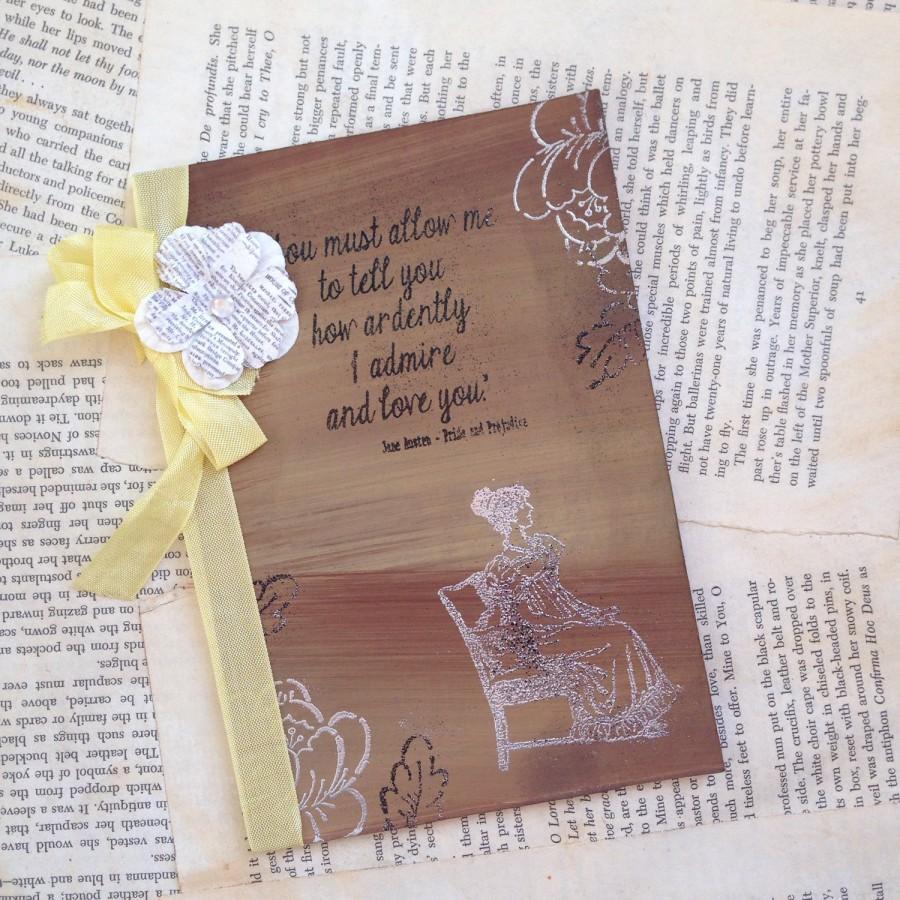 Rustic Fall Wedding Invitation Jane Austen Invitation Vintage