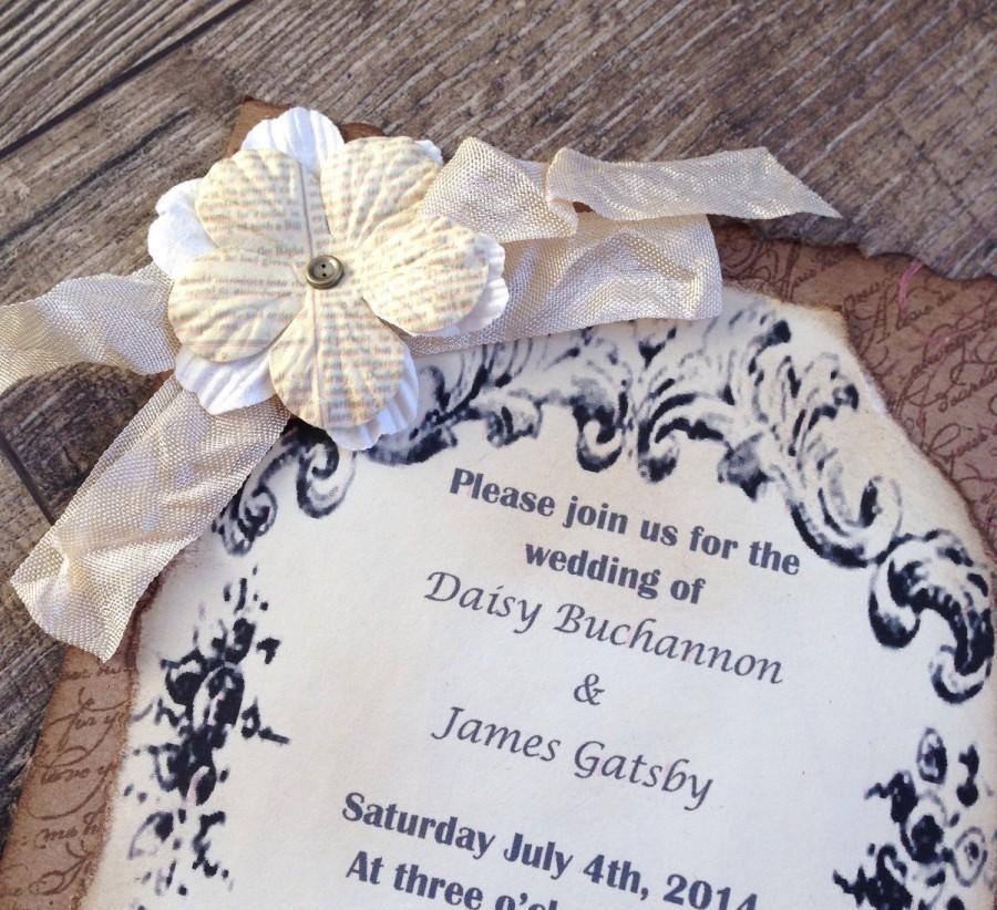 Rustic Country Invitation-DEPOSIT-Vintage Wedding Invitation ...