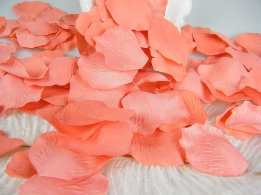 200 Coral Bulk Petals Artifical Rose Petals Coral Wedding