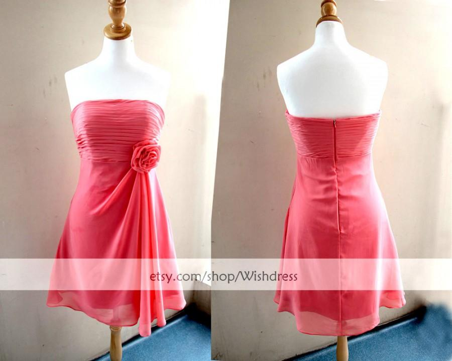 Wedding - Sales!  Watermelon Bridesmaid Dress/ Cocktail Dress/ Wedding Party Dress