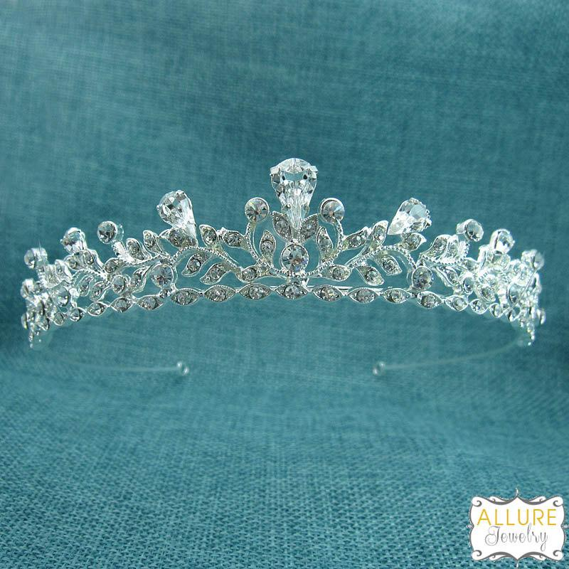 Mariage - Bridal tiara headpiece, wedding tiara, wedding headpiece, rhinestone tiara, crystal tiara, crystal bridal accessories, tiara 205294474