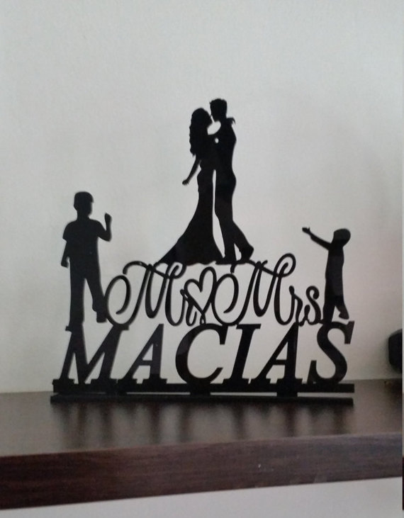 Rustic Wedding Cake Topper,family Wedding Cake Topper,Personalized ...