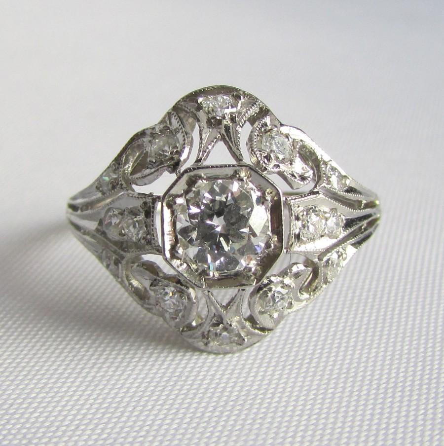 uncut rings rose l round cut ea platinum diamond rough cocktail engagement full item ring