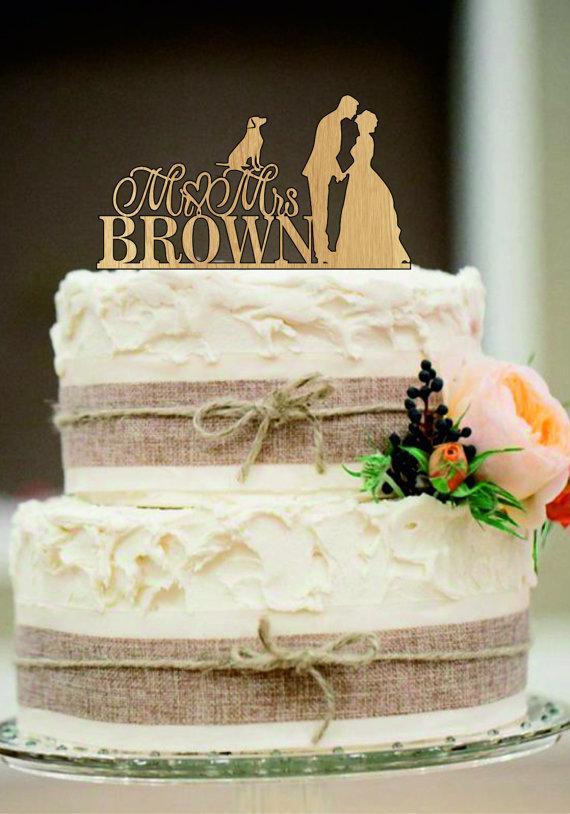 Hochzeit - Custom wedding cake topper,Unique wedding cake topper,Rustic wedding cake topper,Funny wedding cake topper,Personalized wedding cake topper