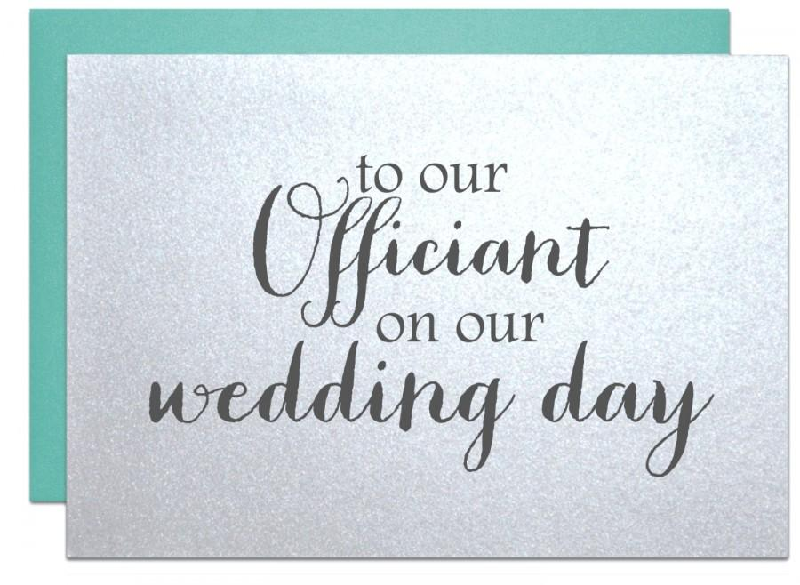 Wedding - Wedding officiant card, thank you card to reverend priest judge pastor deacon rabbi note card officiant gift for wedding day thanks