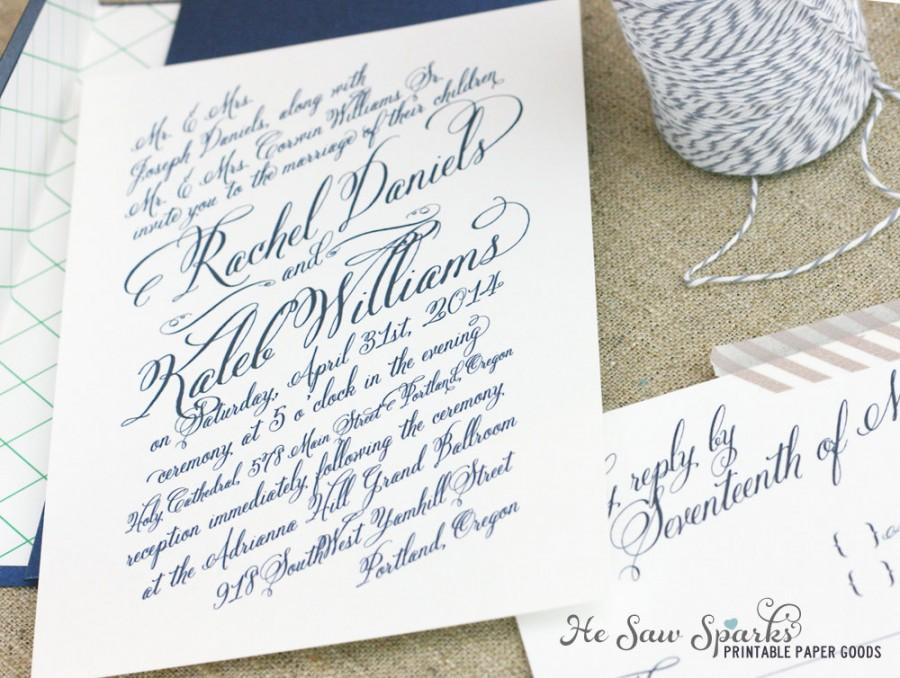 Mariage - Printable Wedding Invitation - The Rachel Collection