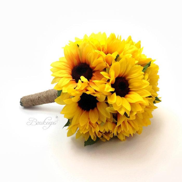 Sunflower bouquet sunflower bridesmaid bridal bouquet with sunflower bouquet sunflower bridesmaid bridal bouquet with twine sunflower bridal bouquet sunflower bridesmaid bouquet junglespirit Image collections