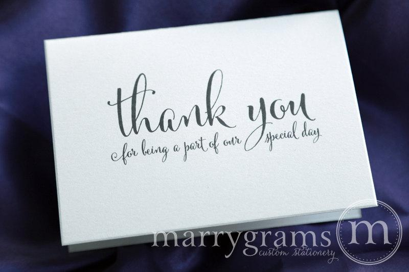 Wedding Thank You Note Card Set Misc Thank You For Being