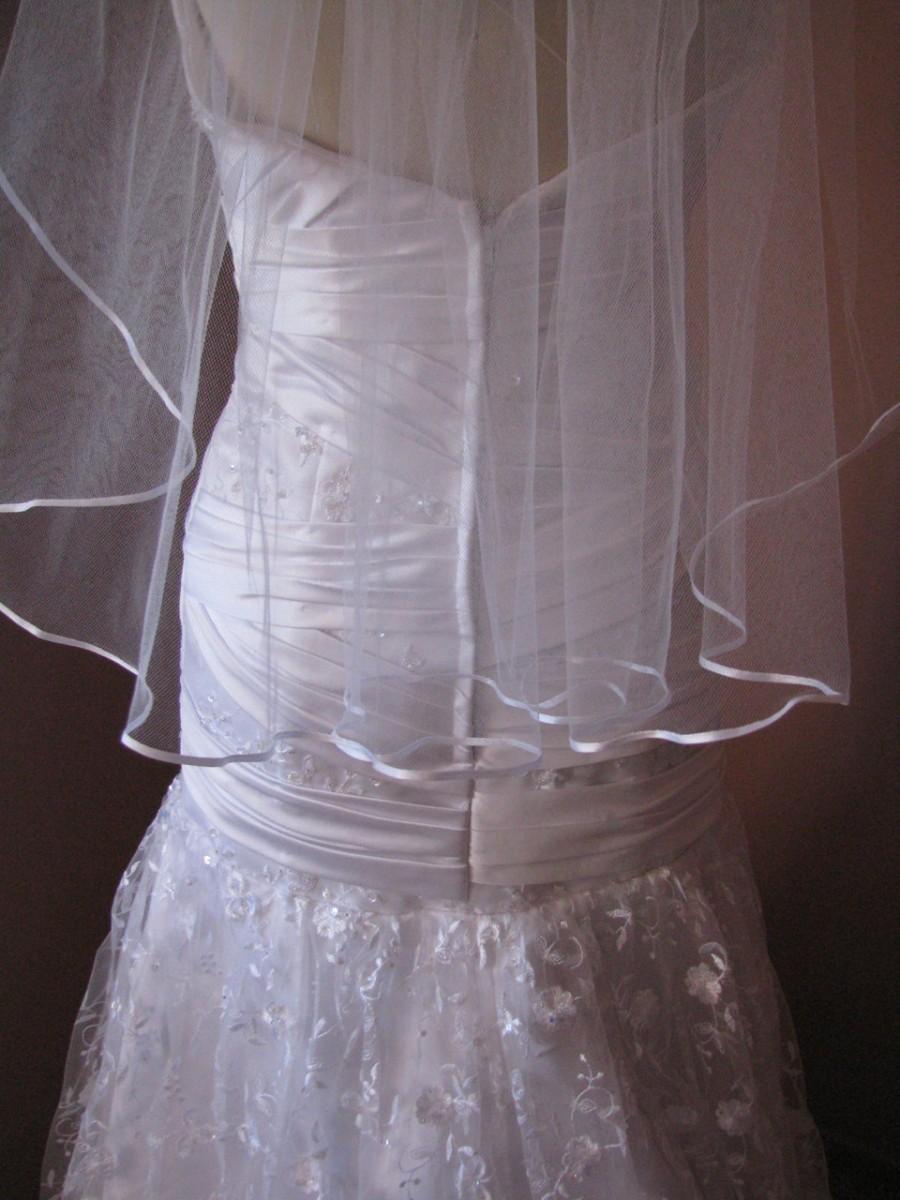 Mariage - Wispy Ribbon Edge Wedding Veil