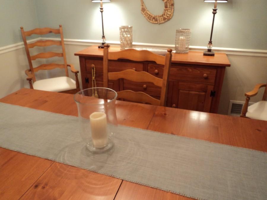 Mariage - Grey Table Runner Gray Burlap Table Runner Gray Wedding Decor