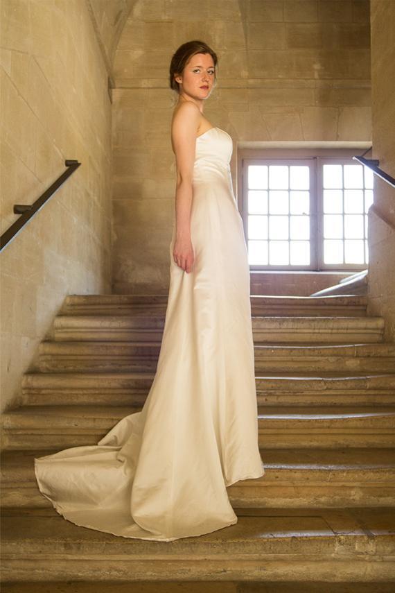 Satin Wedding Dress/ Mermaid Wedding Gown With Train/ Sweetheart ...