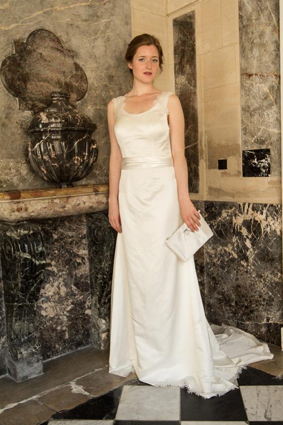 Silk Wedding Dress/ 1930s Vintage Inspire Wedding Dress/ V Back ...