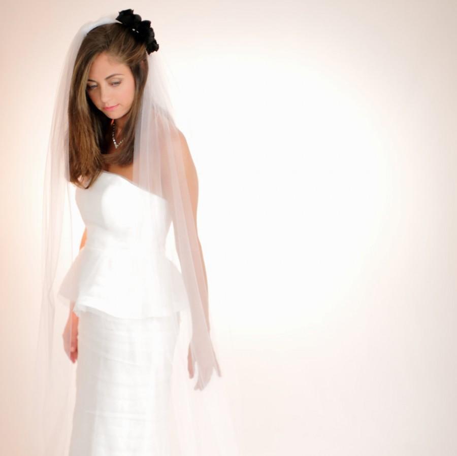 Mariage - Waltz Length Veil, Bridal Veil, Wedding Veil, Classic Single Tier Tulle Veil, Bridal Headpiece, Style No. 1512