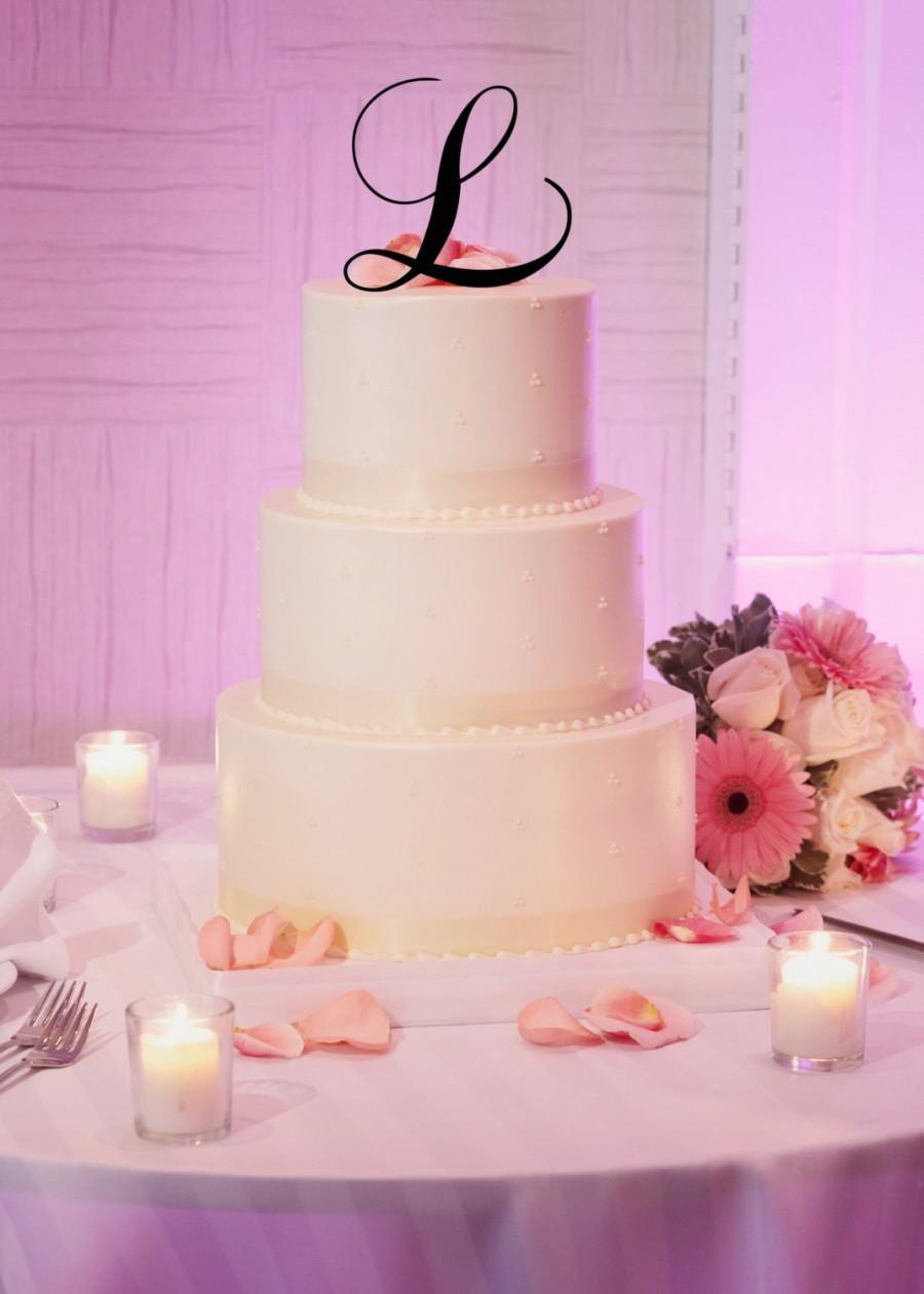 "Свадьба - 5"" Tall Acrylic Wedding Monogram Initial Cake Topper Any Letter A B C D E F G H I J K L M N O P Q R S T U V W X Y Z"