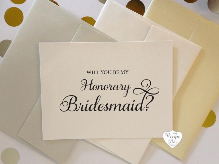 Will You Be My Honorary Bridesmaid Card Bridesmaid Proposal Asking