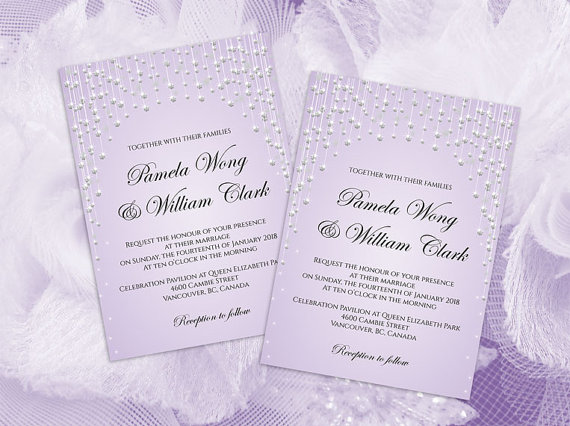 Diy Printable Wedding Invitation Card Template 2459526