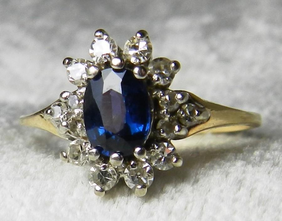 item blue yellow in sapphire ceylon gold genuine carat ring full