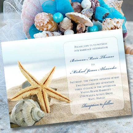 wedding invitations beach theme