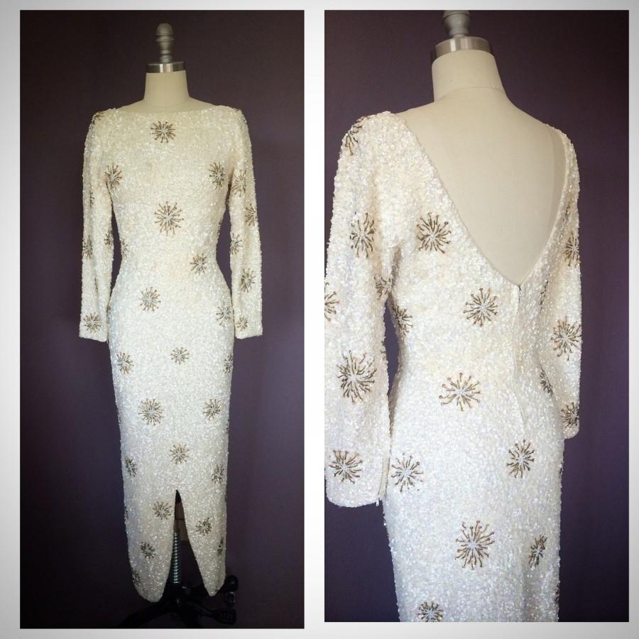 Свадьба - Vintage 1960's Sequin Wedding Gown