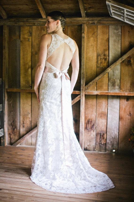 Свадьба - CHAMPAGNE Satin Ladies Sash Bridal Sash Satin Sash NOT Ribbon Smaller Size 70 inch up to 80 inch