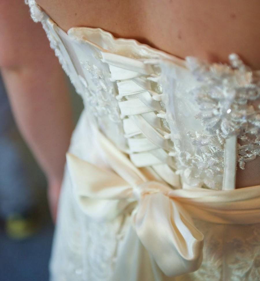 Свадьба - FLOOR LENGTH IVORY Bridal Sash Satin Band made from bridal fabric not ribbon choose from 125 inch up to 150 inch