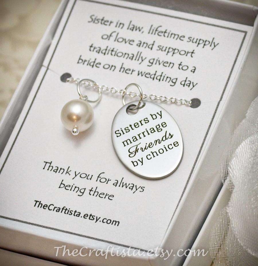 Wedding Gift Ideas For Groom From Sister : Wedding - Sister of the Groom Necklace -- SIL2 -- Sister-in-law ...