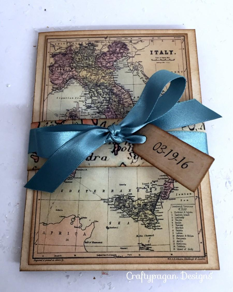 30 New Destination Card Invites With Lace Heart Pocket Inside – Photo Card Invites