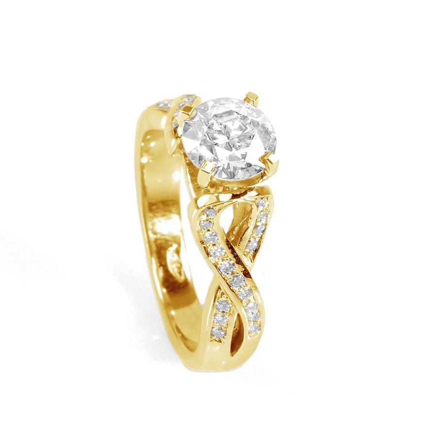 engagement diamonds with diamond in gold ring white yellow of carat tw